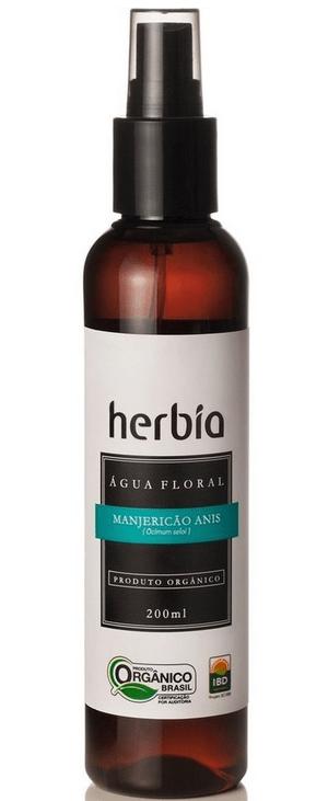 Hidrolato - Água Floral Orgânica de Manjericão Anis 200ml Herbia
