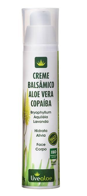Creme Balsâmico Aloe vera, Copaíba, Folha Santa, Aquiléia, Lavanda 50g