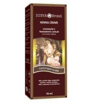 Coloração Natural Henna Creme Castanho Claro 70ml