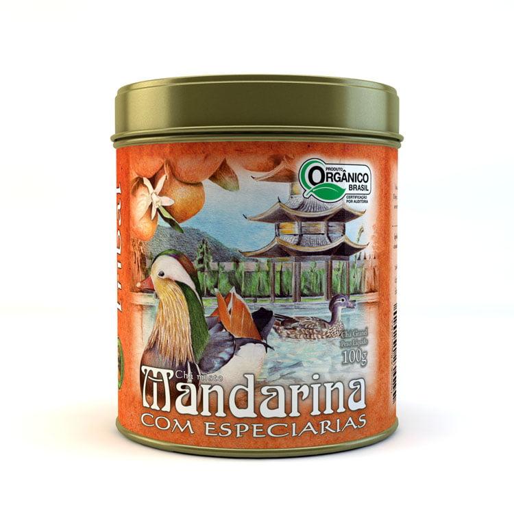 Chá Misto Orgânico Mandarina com Especiarias - Lata 100g - Tribal Brasil