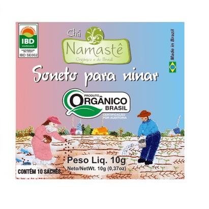 Chá Orgânico Soneto para Ninar Erva Doce, Camomila, Capim Limão e Melissa 10g