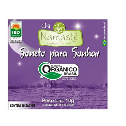 Chá Orgânico Soneto para Sonhar Camomila, Cidreira, Melissa, Macela 10g