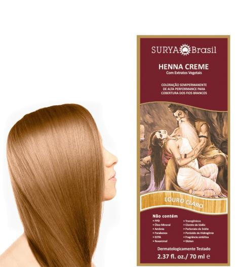 Coloração Natural Henna em Creme Louro Claro 70ml