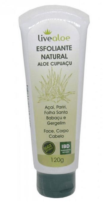 Esfoliante Natural Vegano Aloe Cupuacu 120ml Live Aloe