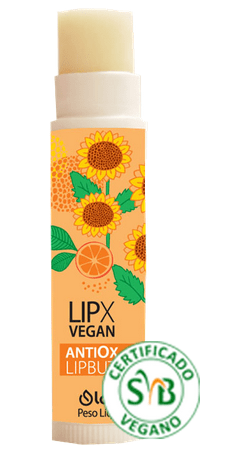 LIPX ANTIOX VEGAN - Protetor Hidratante Labial - Oleo de Girassol e Argan 4,6G