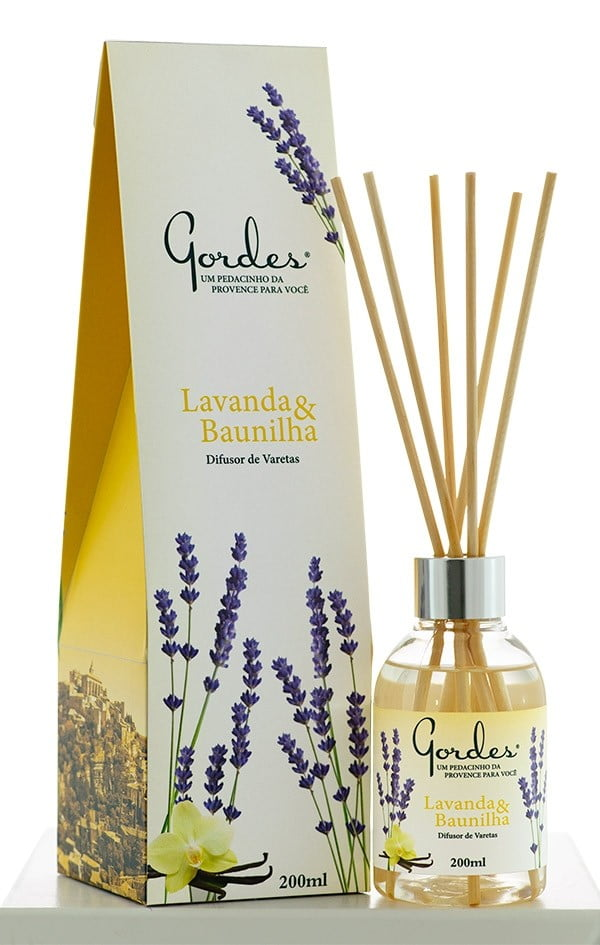 Aroma de Ambientes Gordes Lavanda e Baunilha Difusor 200 ml