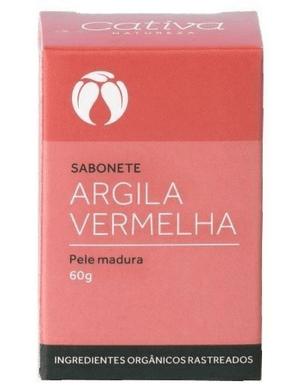 Sabonete Argila Vermelha - Pele madura 60g
