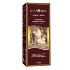 Coloração Natural Henna Creme Castanho Dourado 70ml