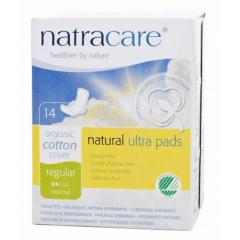 Absorvente Orgânico Natracare Regular com abas Ultra Pads com 14 un