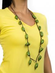 Colar de Abacaxizinho 1 Volta Longo Cor Verde