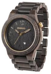 Relógio de Madeira - ALPHA BLACK-GOLD