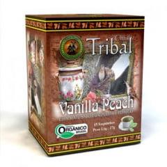 Chá Misto Orgânico Vanilla Peach - Mate, Baunilha e Pêssego - Caixa 27g (15 saquinhos) Tribal Brasil
