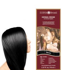 Coloração Natural Henna em Creme Preto 70ml