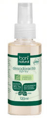 Desodorante Natural e Vegano Spray Perfume suave Boni 120ml