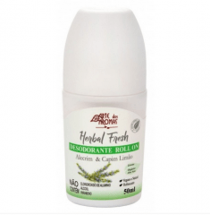Desodorante Rollon Alecrim e Capim Limão Natural e Vegano 50ml