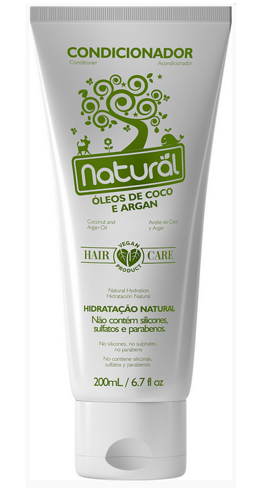 Condicionador Natural com Óleos de Coco e Argan 200mL Suavetex