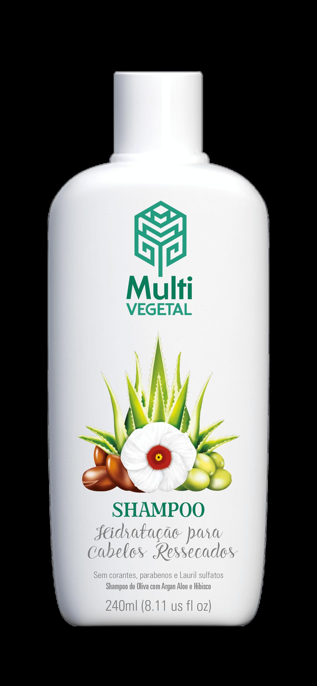 Shampoo de Oliva com Argan, Aloe e Hibisco 240ml