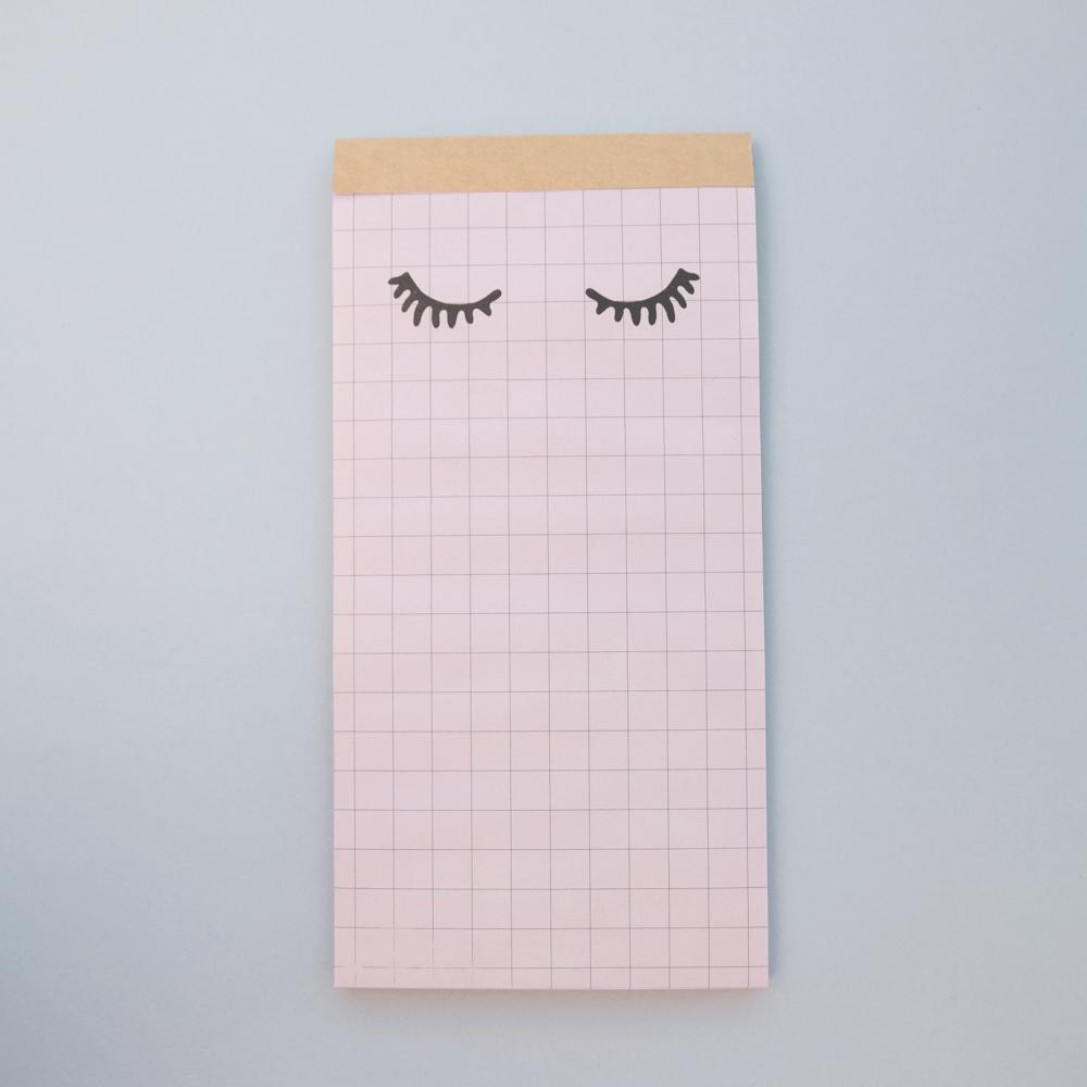 Bloquinho Grid com cílios