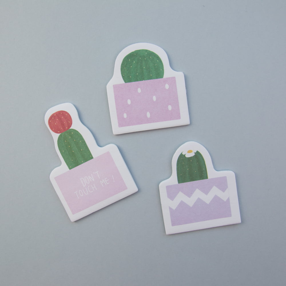 TRIO DE POST-IT CACTOS -  Lilás