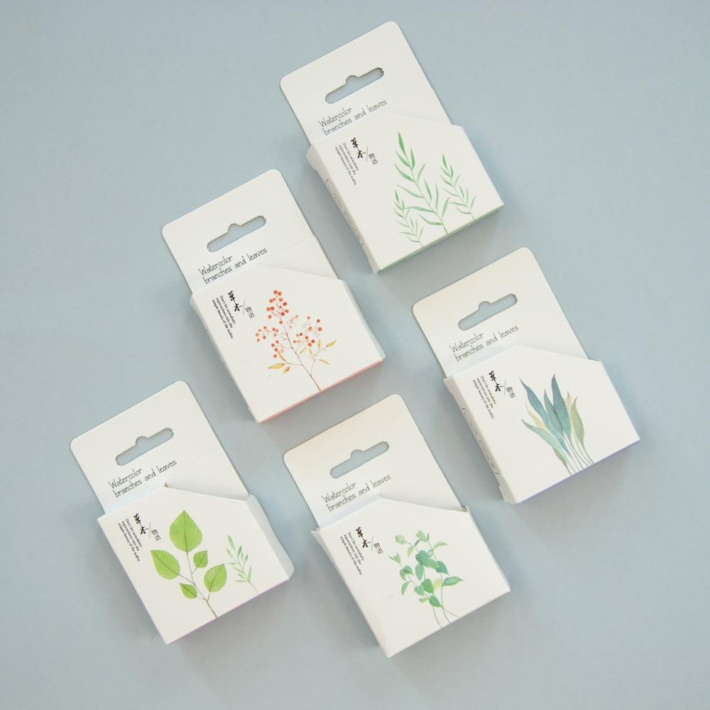 Washi Tape Watercolor Plant