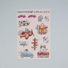 Combo Ilustra das Minas - 10 cartelas de adesivo