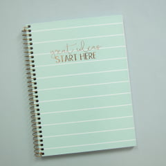 Caderno Colegial Soho - Menta Listrado