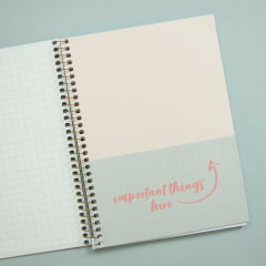 Caderno Colegial Soho - Rosa Bolinhas