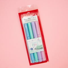 Kit Caneta Fine Pen Tons Pastel