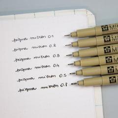 Kit Pigma Micron Black Set - 6 unidades