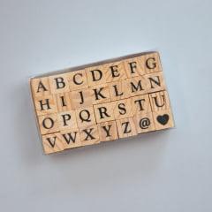 Carimbos de madeira - Alfabeto