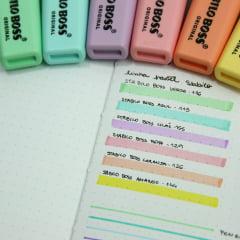 Kit Stabilo Boss Pastel - 6 cores