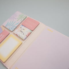 Caderno de post-its Flowers