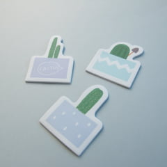 TRIO DE POST-IT CACTOS - Azul