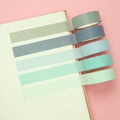 Kit Washi Tape - Tons de azul