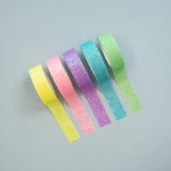 Kit Washi Tapes Glitter Pastel