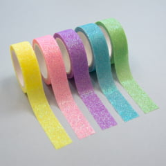 Kit Washi Tapes Glitter Pastel
