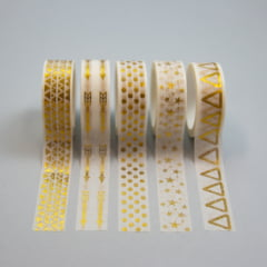 Kit Washi tapes Gold
