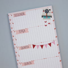 Planner em bloco magnético - All you need is love