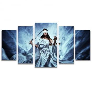 Quadro Canvas Deusa da Justiça Themis para Escritório Advocacia 5 Telas