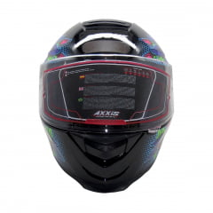 Capacete Axxis Skull Gloss Black Blue