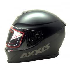 Capacete Axxis Solid Matt Black Grey