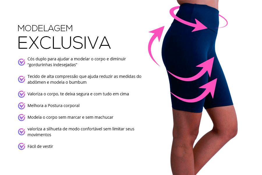 kit 3 bermuda fitness feminina modelagem exclusiva