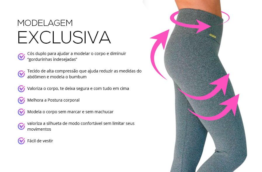 Kit 3 Leggings básica Monnieri modelagem exclusiva