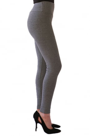 Legging Cinza Claro Cintura Alta