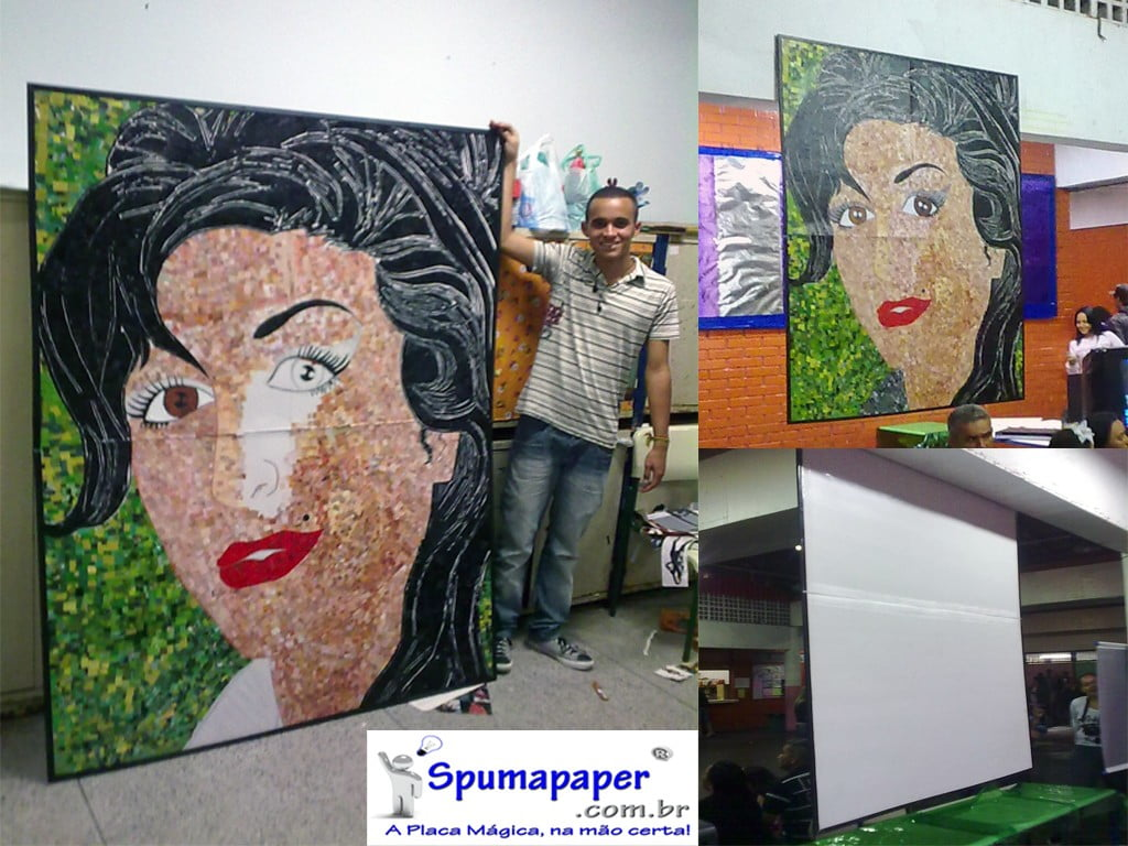 Arte montada em Spumapaper-FoamBoard