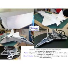 1-Aeromodelo feito utilizando como base as placas de Depron
