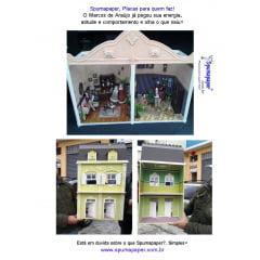 1-Mini-Modelismo com Spumapaper-Foamboard-Placa Pluma-Metier