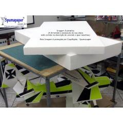 Isopor Tipo 5F / P3 - ITP5F-P3-10 - Placa na dimensão: 100cm x 50cm x 10cm de espessura