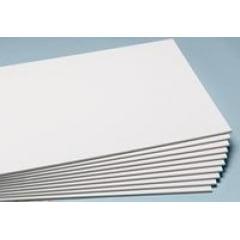 Placa Branca/ Branca/ Branca - 5BBB4A - 30cm x 22,5cm x 5mm (Valor Unitário)