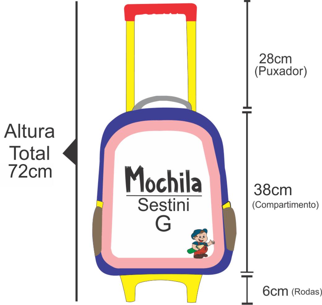 medidas mochila sestini com rodas g